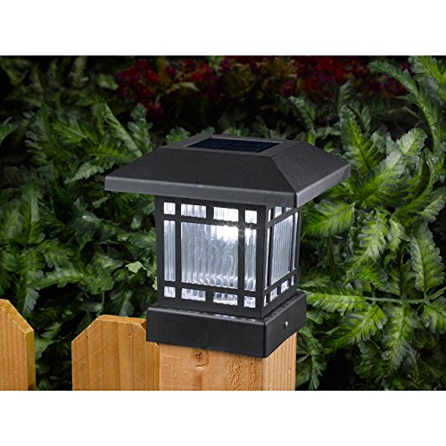 4 Foot Outdoor Solar Powered Lamp Post With: Westinghouse Solar 20 Lumens 4x4 Post Light For Wood Posts