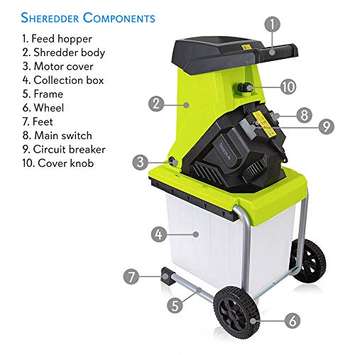 Electric wood chipper shredder