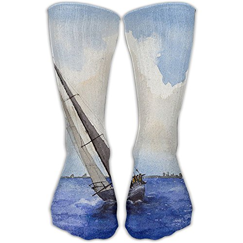 Soccer Socks Compression Long Nautical Sails Athletic Football With Cotton Pairs For Men/Women Cycling - Basketball Ideas Date