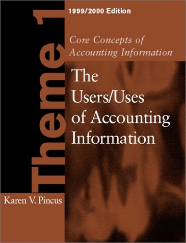 Core Concepts of Accounting Information Theme 1, 1999-2000 Edition