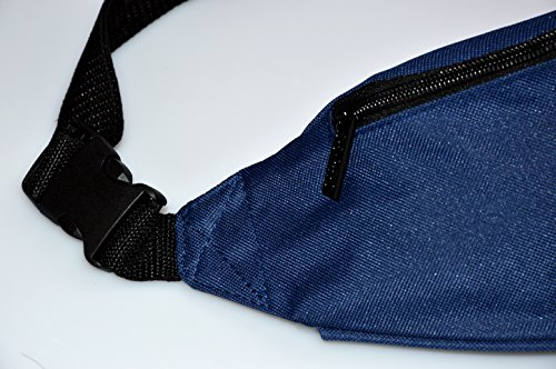 Janeither Unisex Pockets I Am Fine Word Fanny Pack Waist/Bum Bag Adjustable Belt Bags Running Cycling Fishing Sport Waist Bags Black by Janeither (Image #1)