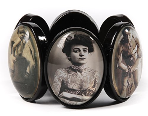 Project Pinup Vintage Circus Freaks Cameo Stretchy Bracelet