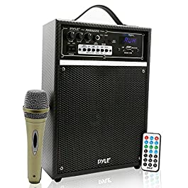 Pyle 300 Watt Outdoor Indoor Wireless Bluetooth Portable PA Speaker 6.5 inch Subwoofer Sound System with USB SD Card…