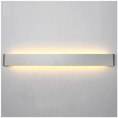Aplique pared lampara Lámpara de pared moderna minimalista LED Living Room Dormitorio Escalera Wall Studio apliques (color : La Plata, Tamaño : 36W/90CM): Amazon.es: Hogar