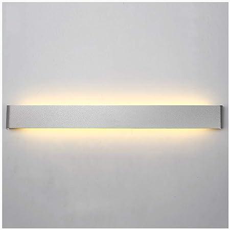 Aplique pared lampara Lámpara de pared moderna minimalista LED Living Room Dormitorio Escalera Wall Studio apliques (color : La Plata, Tamaño : 36W/90CM): Amazon.es: Hogar