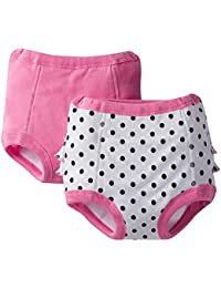 Baby Girls' 2 Pack Training Pant with Lining, 2T-3T
