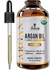 Kanzy Arganolja Bio Kallpressad 100ml Argan oil for Hair, ansikte och naglar i violett glasflaska rik på vitaminer för anti-åldrande 100% vegan arganolja of Marockko