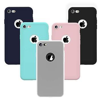 Yokata Funda para iPhone 7 / iPhone 8, Carcasa Funda de Silicona TPU Suave Gel Mate Ultra Fina Delgado Protección Anti-Golpes Case Caso Cover [5 ...