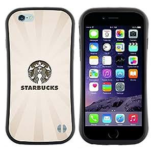 "Hypernova Slim Fit Dual Barniz Protector Caso Case Funda Para Apple (5.5 inches!!!) iPhone 6 Plus / 6S Plus ( 5.5 ) [Los Bucks Café Beige Pastel Logo""]"
