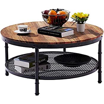136296c81d12 GreenForest – Coffee Table Industrial Wooden Design Metal Legs for Living  Room