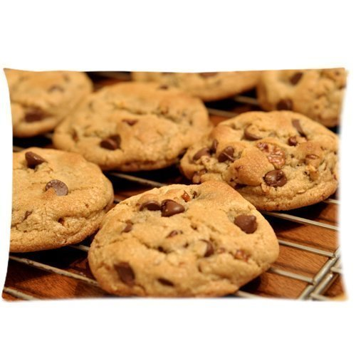 Kinder Chocolate Chips - Chocolate Chip Cookies biscuits Zippered Pillow Cases Cover 20x30 Inch