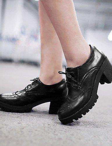 Uk5 A Femme 5 Plateau Noir Eu38 Marron Njx 5 2016 Talons Décontracté Brown Gros Chaussures us7 Cn38 Arrondi Talon Extérieure Habillé Beige Bout gxEER7Ffn