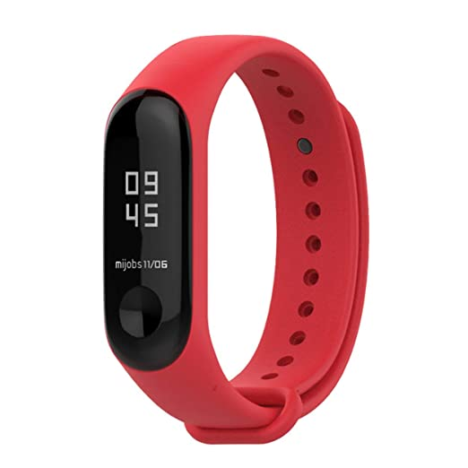 Correa de Reloj Pulsera de Silicona de Mijobs para Xiaomi Mi Banda 3: Amazon.es: Coche y moto