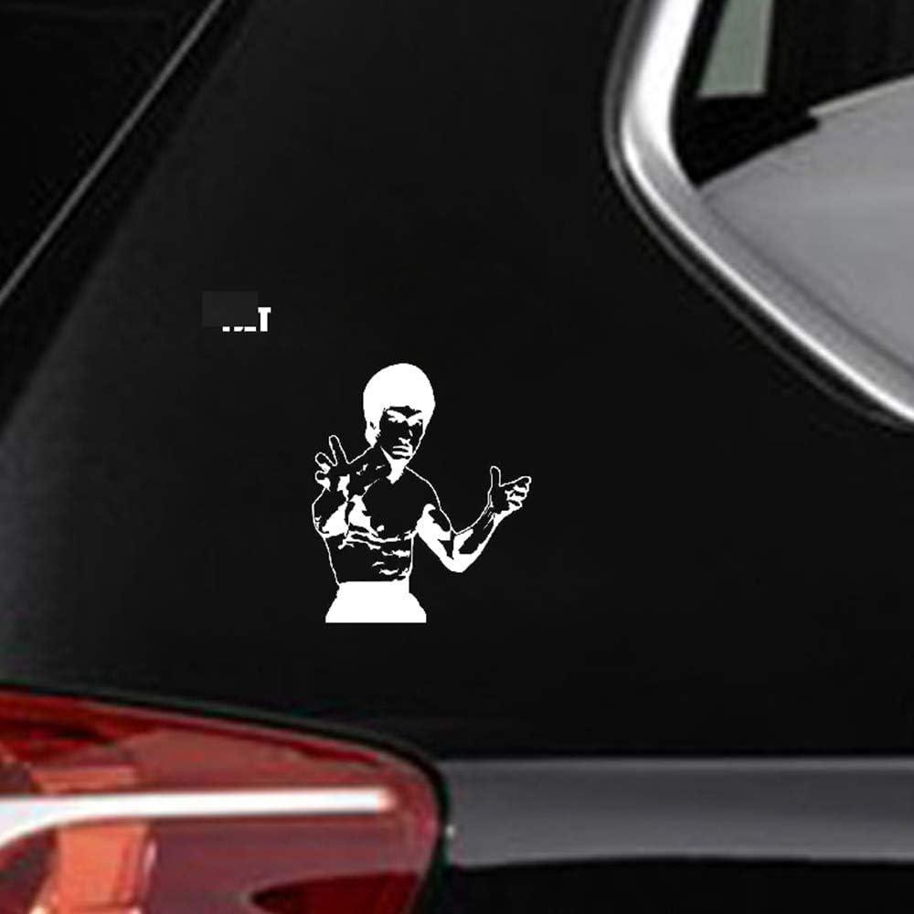 iopada Car Sticker Car Decal 12.8Cmx15.2Cm Bruce Lee Decal Car Sticker Martial Artist for Car Laptop Window Sticker