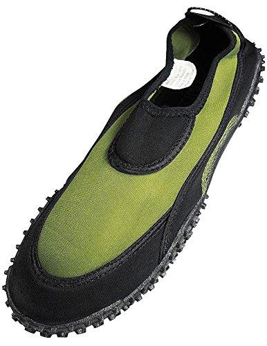 The Black Aqua Mens Wave Shoe Olive URrqU