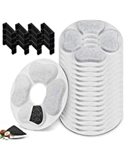 Replacement Filters for Kastty 3L Cat Water Fountain, 16 Pack Food Grade Water Fountain Filter Fountain and Other Cat Water Dispenser, Made of Activate Carbon and PP Cotton