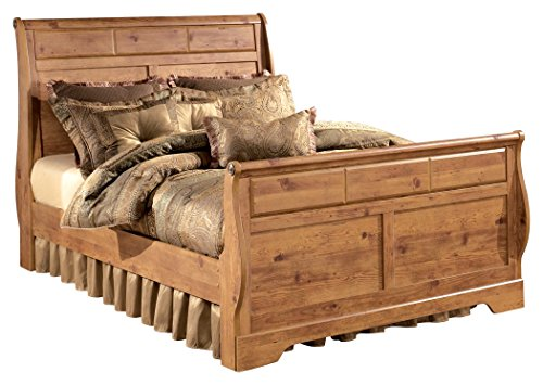 Ashley Furniture Signature Design - Bittersweet Vintage Casual Sleigh Bedset - King Size Bed - Light Brown