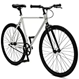 Retrospec Critical Cycles Harper Single-Speed Fixed Gear Urban Commuter Bike; 53cm, White & Black