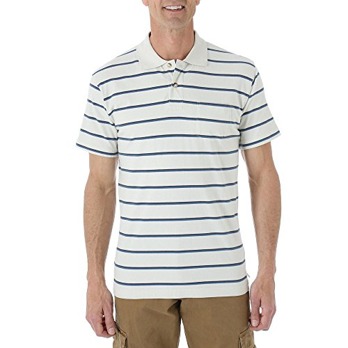 Wrangler Men's Knit Polo Shirt - Striped (Small)