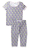Esme Girl's Sleepwear Short Sleeve Top Leggings Set 5 Banana