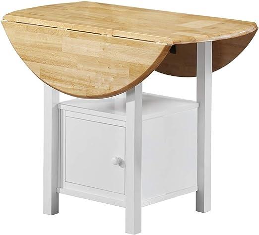 Loft24 Esstisch weiß rund Tischplatte klappbar