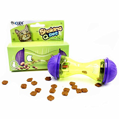 Ztl Cat Treat Dispenser Bone Shape Roll Food Dispensing Toy for Cats and -