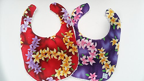Chenille Bibs Boutique Baby - Hawaiian Bib set With Chenille Backing