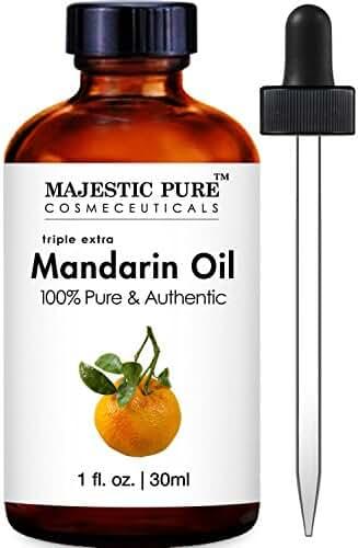 Majestic Pure Mandarin Orange Essential Oil, Pure and Authentic, 1 fl. oz