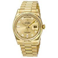 Rolex Men's 118238 Day-Date Analog Automatic 18kt Yellow Gold Watch