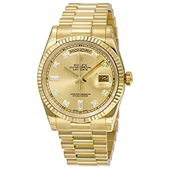 1bfaa48e2968 Amazon.com  Rolex Men s 118238 Day-Date Analog Automatic 18kt Yellow ...