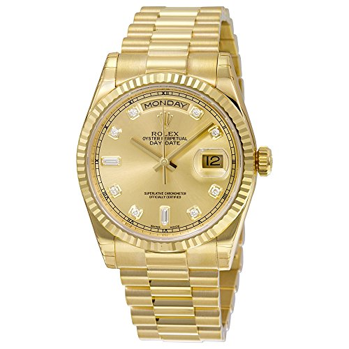 Rolex Men's 118238 Day-Date Analog Automatic 18kt Yellow Gol