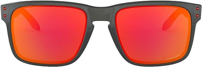 Oakley Mens Holbrook Sunglass, Grey Smoke/Prizm Ruby: Amazon.es ...