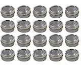 tin container with clear lid - Silver Metal Steel Tin Flat Container with Tight Sealed Clear Lid - .50 oz (20 Pack)