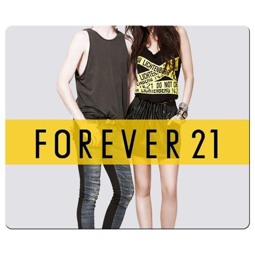 26X21cm   10X8inch Personal Mousemats Smooth Cloth   Environmental Rubber Washable Optical Forever21 Famous Brand Logo