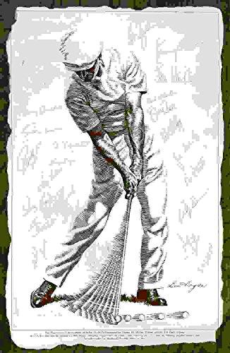 Art Print Greg Stocks - Autographed Ben Hogan 1979 Tournament of Champions Players Poster