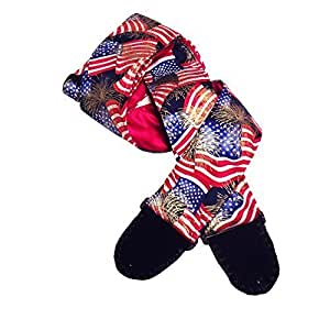 patriotic guitar strap artisan handmade red white blue american flag gilt gold. Black Bedroom Furniture Sets. Home Design Ideas