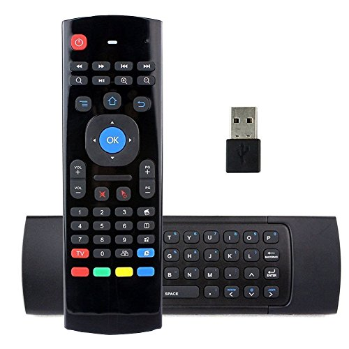REDGO Air Mouse, 2.4G MX3 Portable Mini Wireless QWERTY Keyboard Mouse, Multifunctional Infrared Remote Control for Android Smart TV Box IPTV HTPC Mini PC Windows iOS MAC Xbox