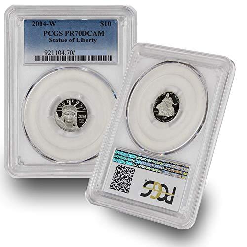(2004 W 1/10oz Platinum Statue of Liberty Proof Coin $10 PR70DCAM PCGS)