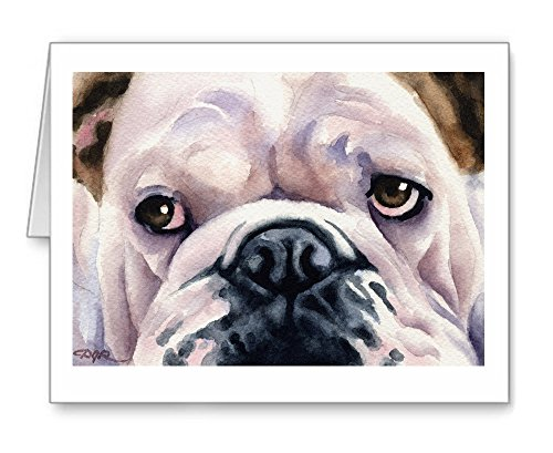 Bulldog - Set of 10 Note Cards With Envelopes