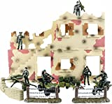 rocket launcher gun real - Click N' Play Urban Warfare Battlefield Military Action Figure 43 Piece Playset With Accessories.