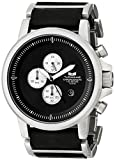 Vestal Men's PLE036 Plexi Silver with Black Leather Watch