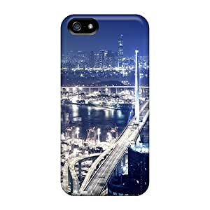 Fashion Tpu Case For Iphone 5/5s- Port At Night Defender Case Cover