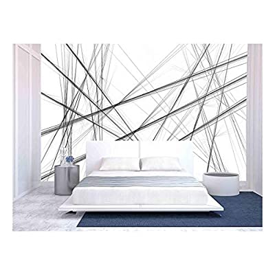 Abstract Black and White Background Wall Decor - Wall Murals