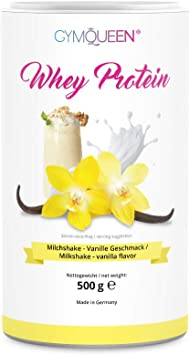 GymQueen Proteína de Whey, Proteína de suero de leche concentrada e aislada, Producto Alemán de Calidad, Batido de vainilla