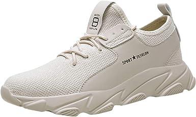 JiaMeng Zapatillas de Running para Hombre Malla Zapatillas de Deporte Transpirables Zapatillas de Deporte Casuales al Aire Libre Zapatos Zapatos de Viaje Deporte Running Sneakers Zapatos: Amazon.es: Ropa y accesorios