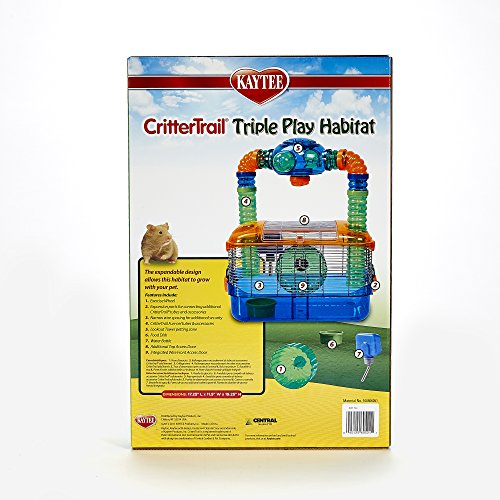 Image of Kaytee Critter Trail Triple Play 3 in One Habitat for Hamsters