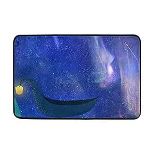 SAVSV - Alfombrillas para el suelo con estampado ligero, antideslizantes, para zapatos, con estrellas, para el barco nocturno, para dormitorio, entrada, interior, exterior, 60 x 40 cm, 60 x 40 cm