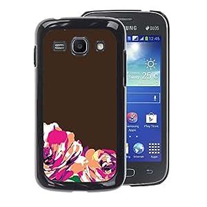 Planetar® ( Brown Orange Minimalist ) Samsung Galaxy Ace 3 / GT-S7270 / GT-S7275 Fundas Cover Cubre Hard Case Cover