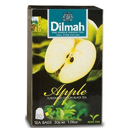 Apple Black Tea Flavored - Dilmah Apple Flavored Ceylon Black Tea - 20 Tea Bags - Sri Lanka Ceylon Dilmah Apple Tea Real Tea