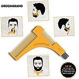Groomarang - Peigne & Pochoir pour le rasage - traceurs de contours pour barbe